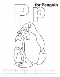 Penguin Coloring Pages Free Printable for Kids 31859