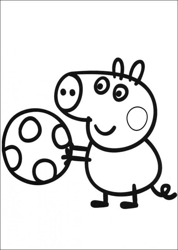 Peppa Pig Coloring Pages Free Printable   30787