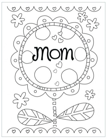 Preschool Coloring Pages of Mothers Day Free to Print out 82090