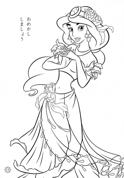 Princess Jasmine Printable Coloring Pages for Girls 13145