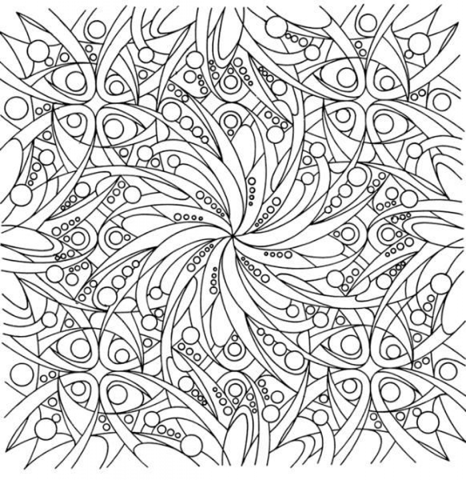 Abstract coloring page on Colorish: coloring book app for adults ... | 960x931