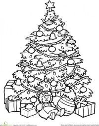 Printable Christmas Tree Coloring Pages 1288