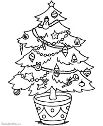 Printable Christmas Tree Coloring Pages 34094