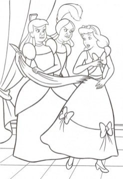 Printable Cinderella Disney Princess Coloring Pages for Girls 15379