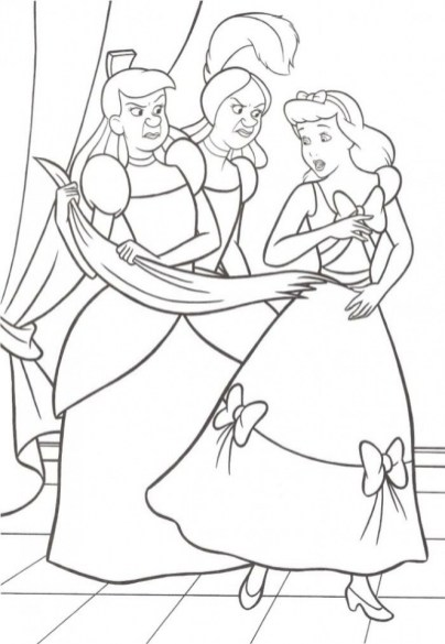 Printable Cinderella Disney Princess Coloring Pages for Girls 15379