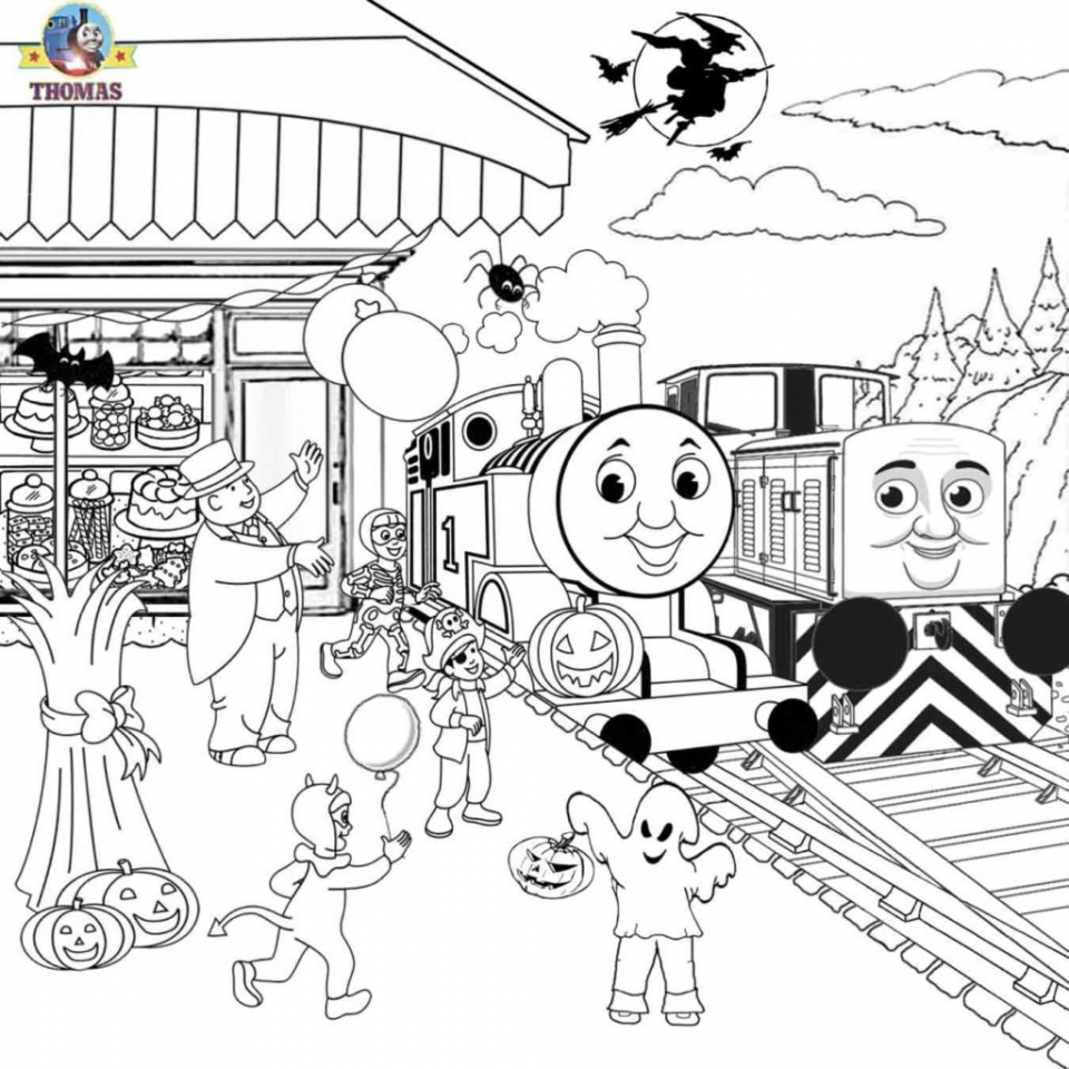 Free Printable Coloring Pages Thomas Train the Tank Engine ... | 960x960