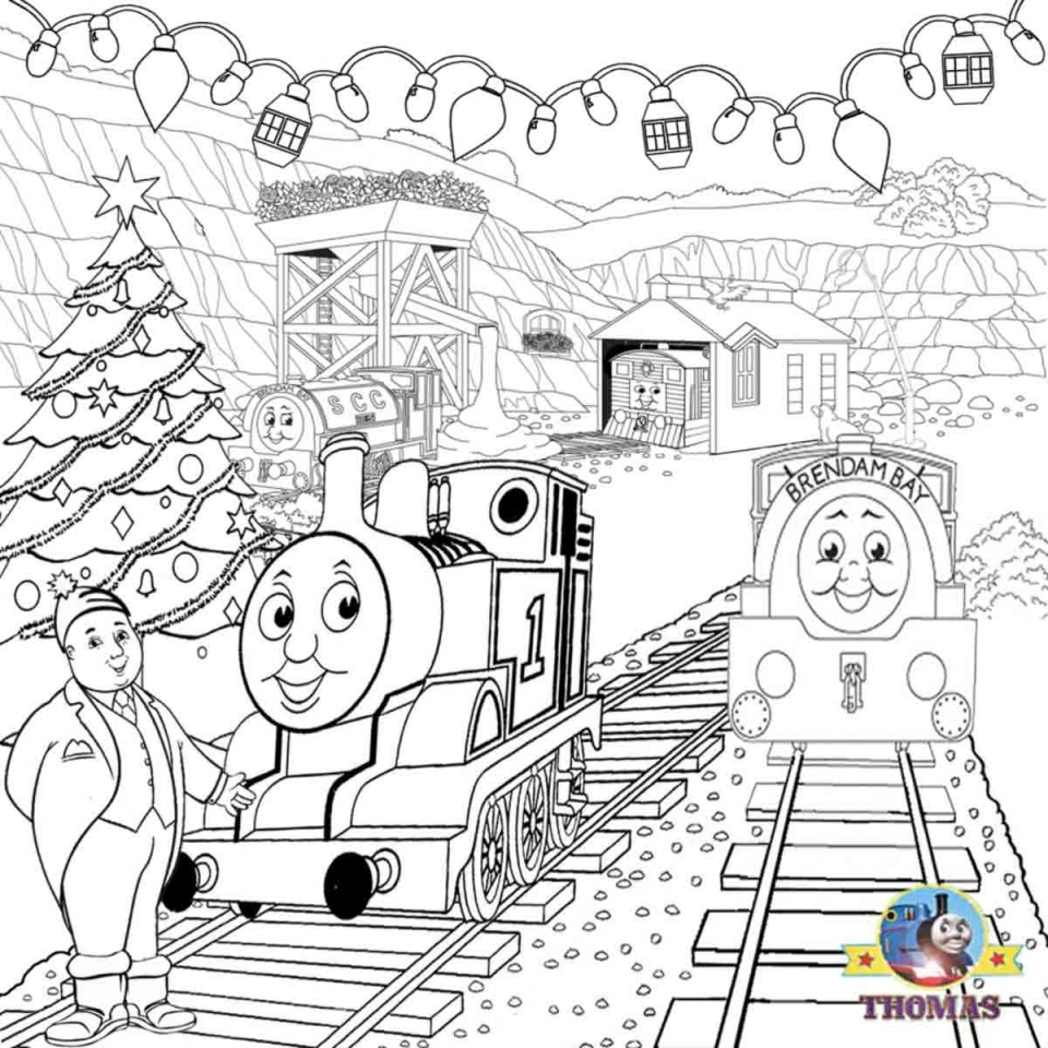 Printable Coloring Pages of Thomas the Train   50071