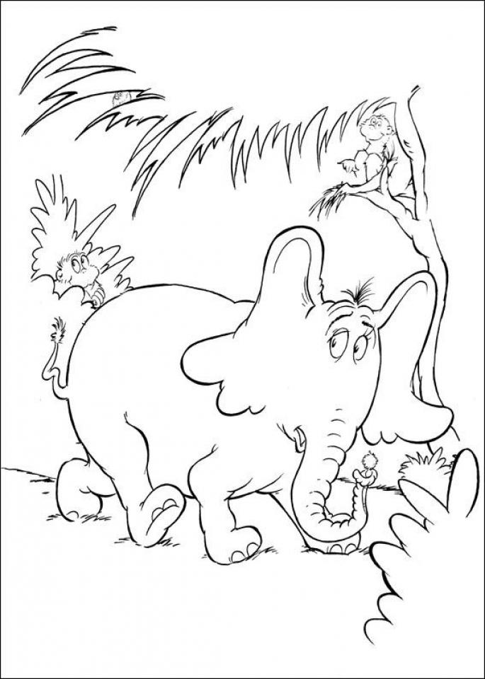 Printable Dr Seuss Coloring Pages Online   78594