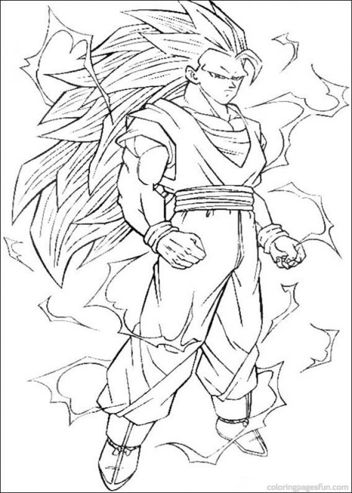 Printable Dragon Ball Z Coloring Pages Online   46803