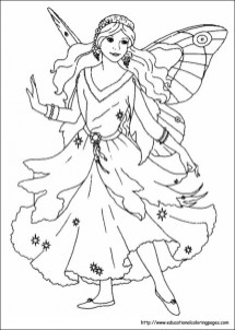 Printable Fairy Coloring Pages 49811