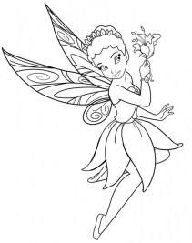 Printable Fairy Coloring Pages Online 28880