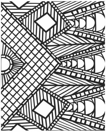 Printable Geometric Coloring Pages 16527