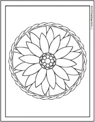 Printable Geometric Coloring Pages 89918