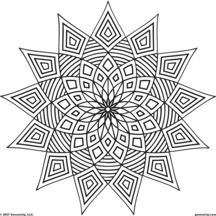 Printable Geometric Coloring Pages Online 95841
