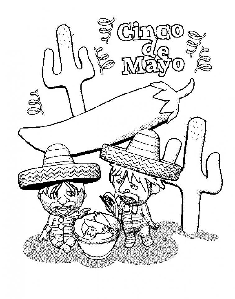 Printable Image of Cinco de Mayo Coloring Pages   90232