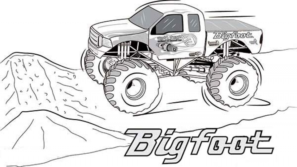 Printable Monster Truck Coloring Pages   29310