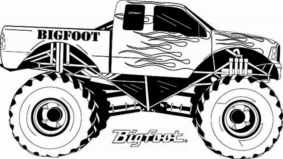 Get This Printable Monster Truck Coloring Pages Online 7275