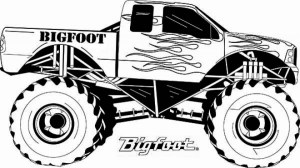 Printable Monster Truck Coloring Pages Online 7275