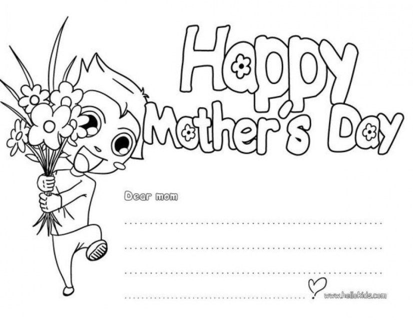 Printable Mothers Day Coloring Pages for Preschoolers 53702