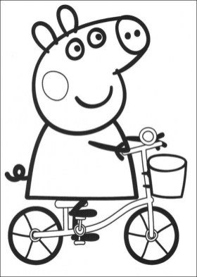 Printable Peppa Pig Coloring Pages Online 76697