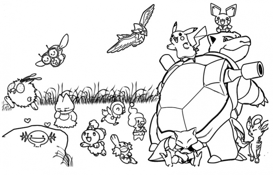 Printable Pokemon Coloring Page   52881