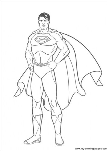 Printable Superman Coloring Pages 49809