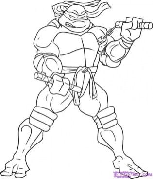 Printable Teenage Mutant Ninja Turtles Coloring Pages Online 36050