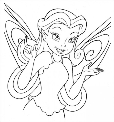Printable Tinkerbell Coloring Pages 18654