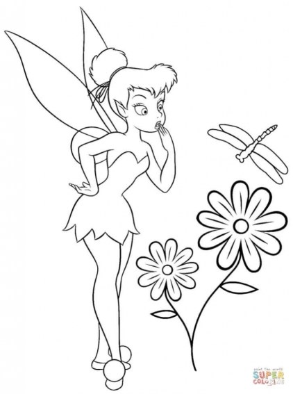 Printable Tinkerbell Coloring Pages Online 89889