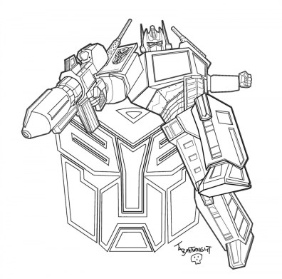 Printable Transformers Robot Coloring Pages for Boys 75813