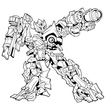 Printable Transformers Robot Coloring Pages for Boys 76319