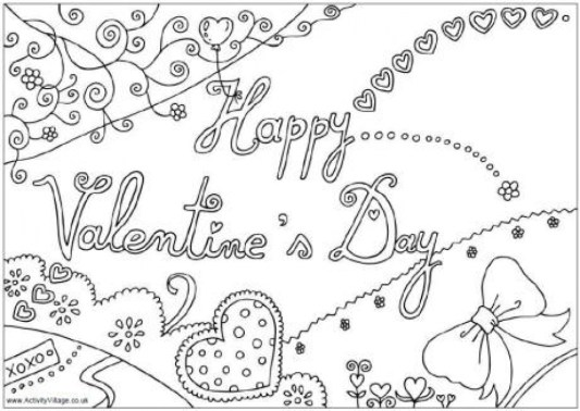 Printable Valentines Coloring Pages Online 52165
