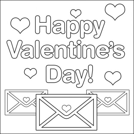 Printable Valentines Coloring Pages Online 82041