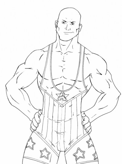 Printable WWE Coloring Pages Online 12903