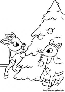Reindeer Coloring Pages for Kids 69481