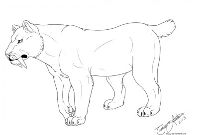 Saber Tooth Tiger Coloring Pages to Print 67219
