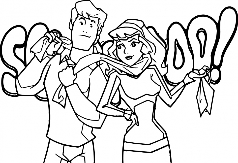 Scooby Doo Gang Coloring Pages   86991