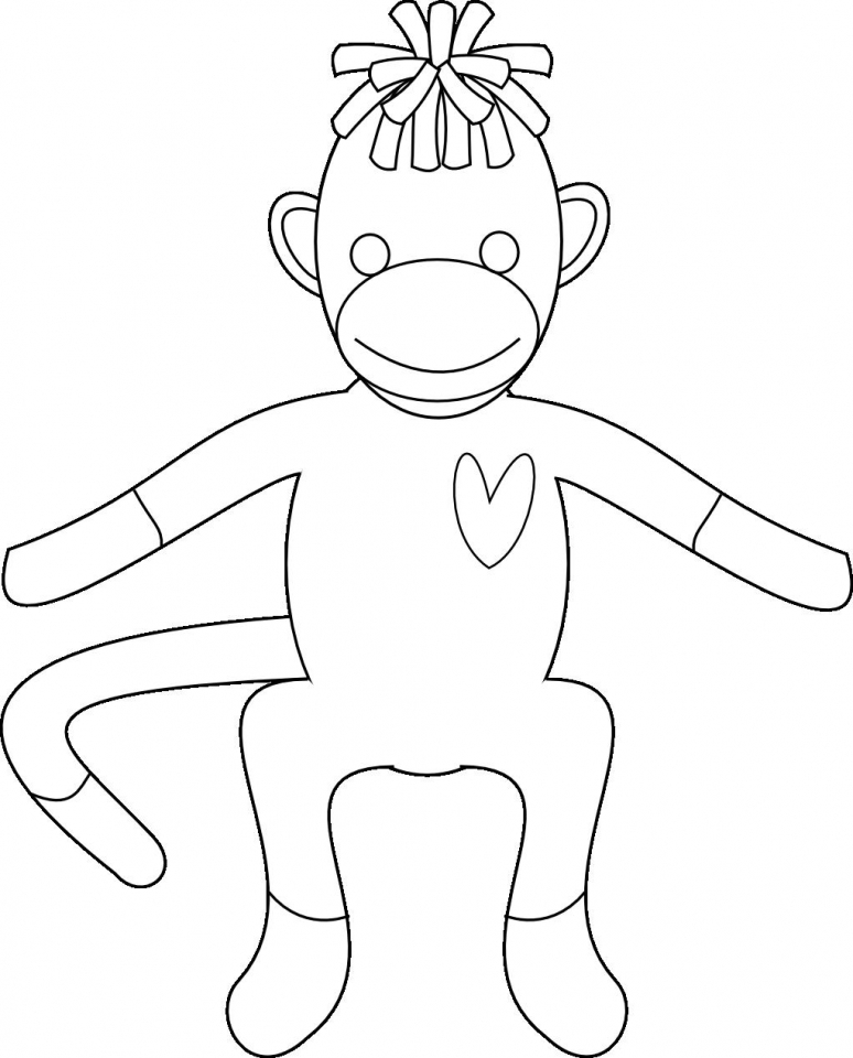 Sock Monkey Coloring Pages   27502