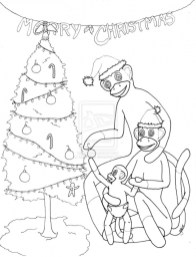 Sock Monkey Coloring Pages 80562