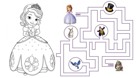 Sofia the First Coloring Pages Free Printable 65189