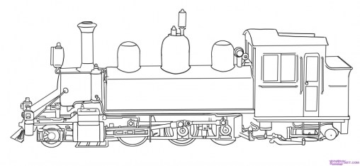 Steam Train Coloring Pages 76621