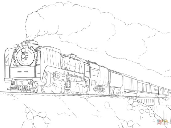Steam Train Coloring Pages 88416