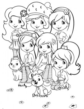 Strawberry Shortcake Coloring Pages for Girls 84617