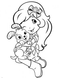 Strawberry Shortcake Coloring Pages Online 04604