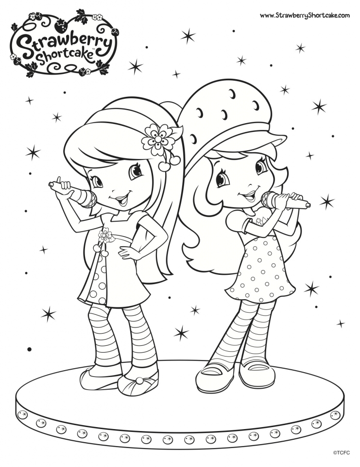 Get This Strawberry Shortcake Coloring Pages Online 61437