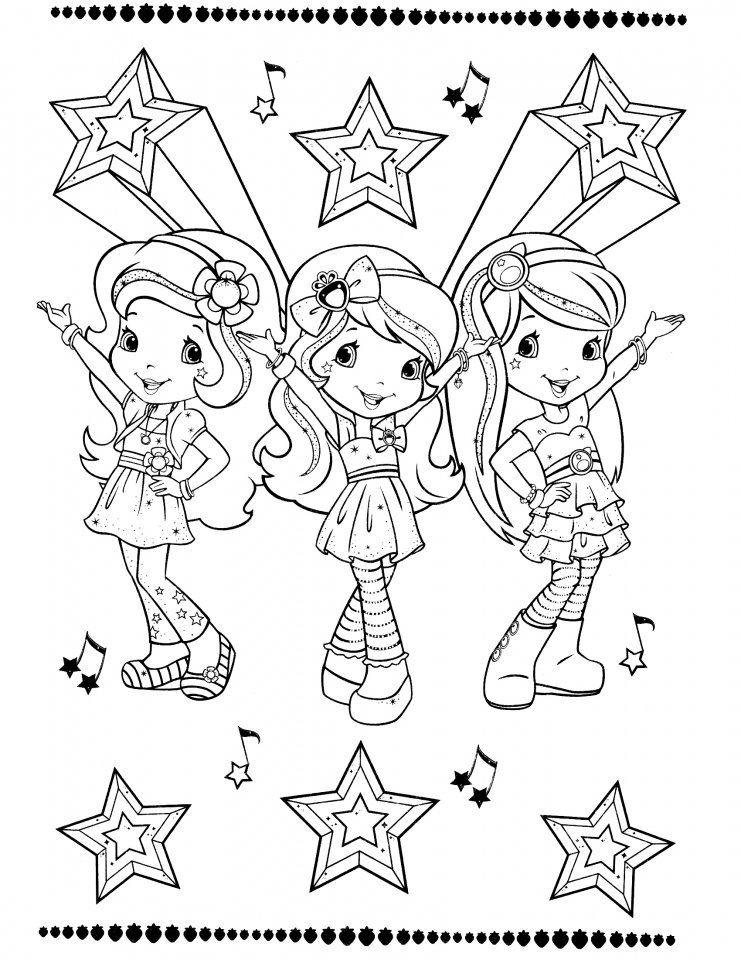 - Get This Strawberry Shortcake Coloring Pages Online 94910 !