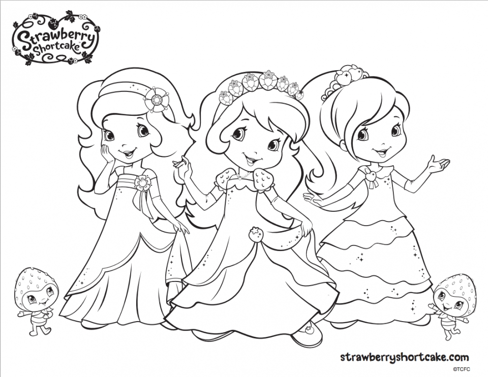 strawberry shortcake activity coloring book – Clrg | 742x960