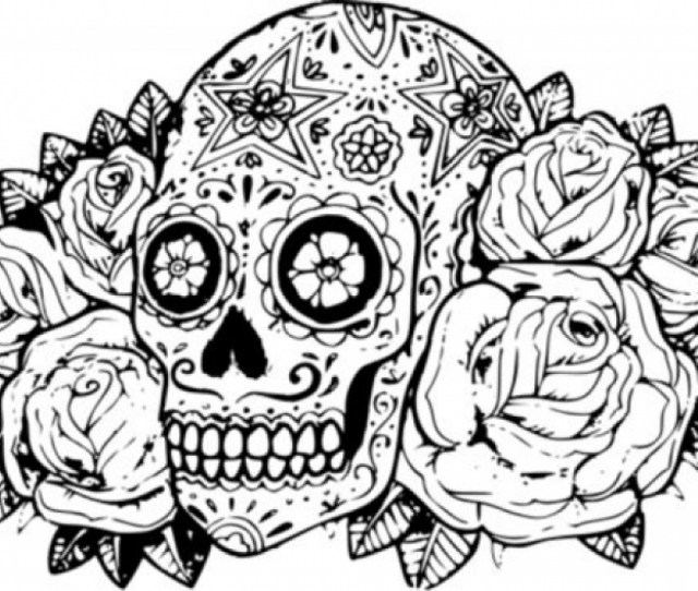 Free Printable Sugar Skull Coloring Pages Everfreecoloring Com