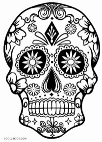 Sugar Skull Coloring Pages for Adults 64527