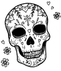Sugar Skull Coloring Pages Free for Adults 18960